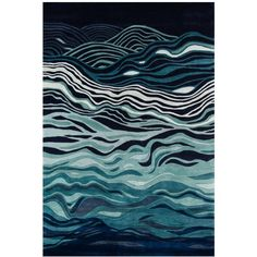 Momeni Perspective Crush 2' x 3' Area Rug ($179) ❤ liked on Polyvore featuring home, rugs, abstract area rugs, momeni rugs, momeni area rugs, momeni and wave rug
