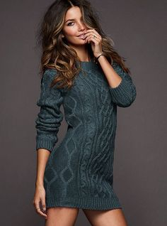 totally scored a cable knit dress similar to this, a bit brighter color and short capped sleeves but gorgeous none the less