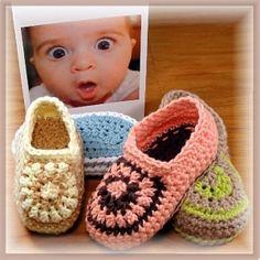 Toddler Crochet Slippers Pattern by GeneviveCrochet