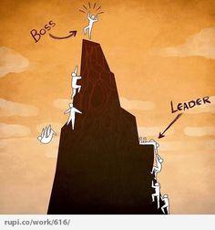 Boss Vs Leader - Rupi - Social Comic Strip @rupidotco
