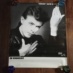 """David Bowie"""" Heroes"""" In Concert RCA Records 1978 Original Rare Vintage Music Poster by RockPostersTreasures on Etsy"""