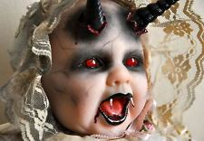 OOAK Goth Horror Vampire Demon Devil Halloween Reborn Berenguer Doll