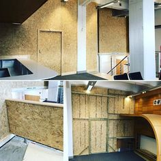Internal wooden hoarding to partition off a business centre during construction works. The hoarding spans a large area and goes up to a height of 5 metres. Tricky due to access and cutting around lights but the end result was worth effort we put in. Hoarding Design, Business Centre, Effort, It Works, Creativity, Construction, Lights, Instagram, Building