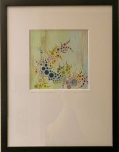 Unititled #111 acrylic on paper by Amelia Caruso available at Columbine Gallery on Amazon Fine Art