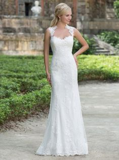 Dramatic Illusion Back detailed wedding dress by Sincerity style 3885