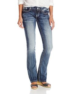 Miss Me Juniors Woven Bootcut Jean Medium 27 * Check this awesome product by going to the link at the image.(This is an Amazon affiliate link and I receive a commission for the sales)