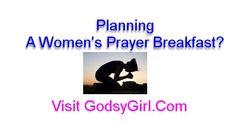 Tips and sample agenda for planning a women's prayer breakfast.