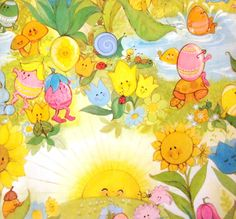 Vintage Wrapping Paper  Easter Egg Party  by TillaHomestead, $3.50