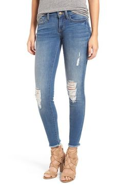 SP Black Destroyed Skinny Jeans available at #Nordstrom
