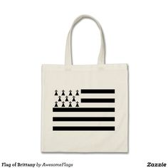 Flag of Brittany Budget Tote Bag