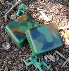 What a Cool Idea!  Great Camouflage Soap Tutorial for Men and Boys.