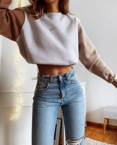 Girls Fashion Clothes, Teen Fashion Outfits, Retro Outfits, Look Fashion, Fall Outfits, Cute Comfy Outfits, Simple Outfits, Stylish Outfits, Casual College Outfits