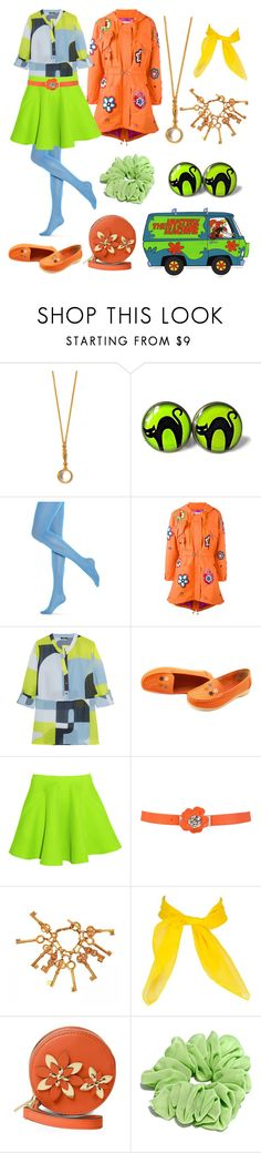 """""""Scooby Doo Inspired"""" by vicipokemon ❤ liked on Polyvore featuring Alex Monroe, Hue, Moschino, Raoul, Chalayan, Chanel and MICHAEL Michael Kors"""