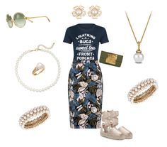 """""""Family Reunion"""" by kerashawn ❤ liked on Polyvore featuring Rodeo Rags, Ilia, Saks Fifth Avenue, Anne Klein, David Yurman, Dareen Hakim and Tory Burch"""