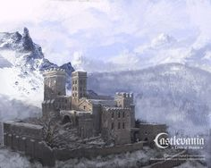 Early concept art for Castlevania: Lords of Shadow Vampire Level-Abbey Fantasy City, Fantasy Castle, Fantasy Places, High Fantasy, Fantasy World, Medieval Castle, Medieval Fantasy, Castlevania Lord Of Shadow, Lord Of Shadows