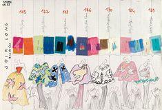 Yves Saint Laurent   80s sketches ✭ via Fondation Pierre Bergé Yves Saint Laurent