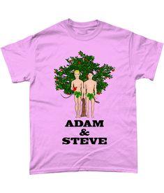 Funny, Gay, T-Shirt. Adam & Steve! Hilarious Gay, Pride, TShirt! LGBT, Pink, S #Gildan Hilarious, Funny, Gay Pride, Mardi Gras, Lgbt, Mens Tops, Pink, Cotton, T Shirt