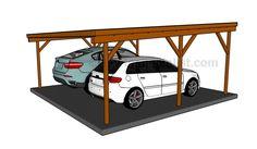 Flat roof carport plans More