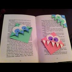 Fun bookmarks! Great and easy craft too!