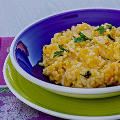 This Squash Risotto is amazing! Risotto is easier to make than you might think. #risottorecipe #squashrecipes