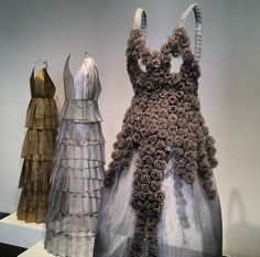 """""""101 Dresses"""" - a solo exhibition of dress sculptures  by artist Adriana Carvalho."""