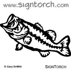 largemouth bass stencils - Google Search