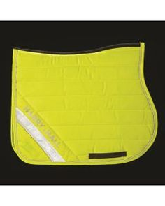 Hi Viz Saddlecloth in Yellow Equestrian Collections, Goodie Bags, British Style, Yellow, Favor Bags, Gold