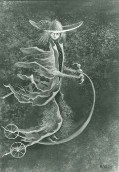 Cat.290-Personaje-1960 Remedios Varo's artwork, so striking