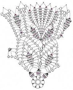 Вязание крючком салфетки  схема