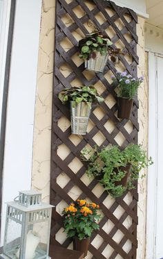 Wall Panel. I am so doing this on one of my outside patio walls!
