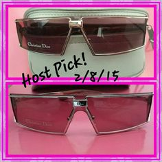 ❣SALE❣HP! NEW!  Christian Dior Sunglasses ☆ HP ☆ NEW Authentic Christian Dior Sunglasses. Rose/wine smoke lenses with metal frame. Comes with Christian Dior Sunglass case. Never worn! Dior Accessories Sunglasses
