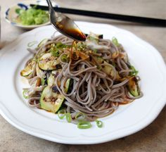 Soba Salad With Smoked Mackerel and Courgette