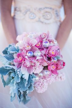 pink bouquet with ornaments