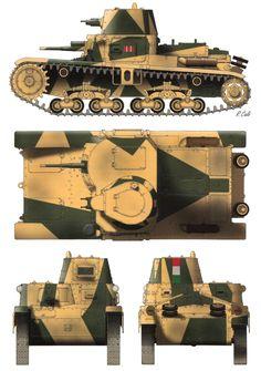 Le M11/39, char de transition entre les chenillettes et le M 13/40, souffrait principalement d'une motorisation peu puissante, du montage du canon en...pin by Paolo Marzioli