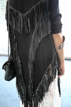 Fringed black jacket