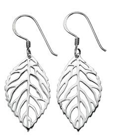 Sterling silver cut out Leaf Earrings (Width: 14.9mm x Length: 26mm exc hook, 39mm inc hook ).. £19.00  http://www.gosjewellery.co.uk/product_info.php?products_id=3781