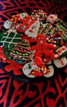 My work Christmas cookies