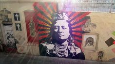 """Time-lapse of Votan's mural at Indian Alley in Downtown Los Angeles.   Mural: Votan http://nsrgnts.com/  Music: A Tribe Called Red """"Electric Pow…"""