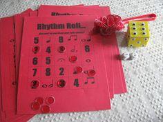 "Rhythm Roll - A fun ""bingo"" format game that reinforces note values"