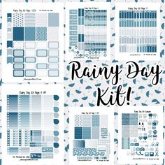 Free printable and custom planner stickers including free functional and decorative stickers as well as free kits and samplers! Happy Planner Kit, Passion Planner, Free Planner, Blog Planner, Planner Pages, Planner Ideas, Weekly Planner, Binder Planner, College Planner