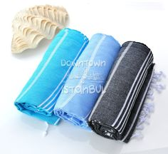 Swim Cover Up Set of 3 Turkish Bath Towel  by DowntownIstanbul, $44.99