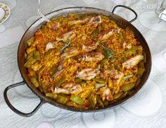Paella Valenciana (fotorecept) - recept   Varecha.sk Paella, Risotto, Ethnic Recipes, Food, Essen, Meals, Yemek, Eten