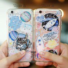 Glitter adhesivo Estuche - caja del teléfono, caja de brillo para el iPhone 6, 6S | 6Plus, 6SPlus