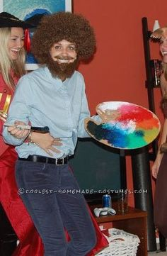 Bob Ross Costume hahahahaha