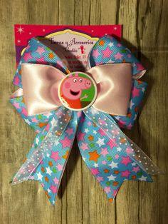 Moño Peppa Pig bow
