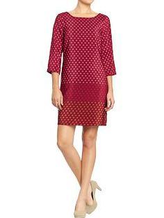 Women's Dotted Color-Block Crepe Dresses | Old Navy