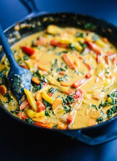 This Thai red curry with vegetables is the best! cookieandkate.com: