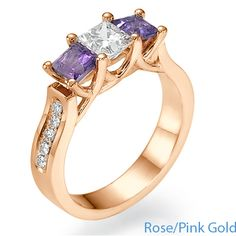 Diamonds Diamonds Pink Gold Ring wow i love colors with my diamonds