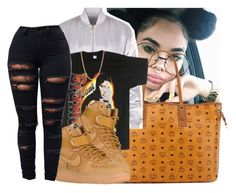""""""""""" by eazybreezy305 on Polyvore featuring MCM, NIKE, Mark Davis, simpleoutfit and Trendy"""