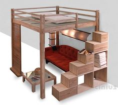The Best Loft Beds For Kids and Adults In 2019 Loft beds make brilliant use of minimal room, they are fun for kids, as well as can be themed up and also made use of in many various ways. See our loft bed plans. Loft Room, Bedroom Loft, Dream Bedroom, Mezzanine Bedroom, Small Rooms, Small Spaces, Adult Loft Bed, Adult Bunk Beds, Kids Bunk Beds